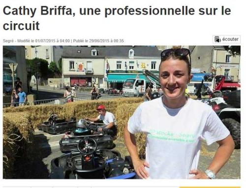 Cathy Briffa une professionnelle sur le circuit